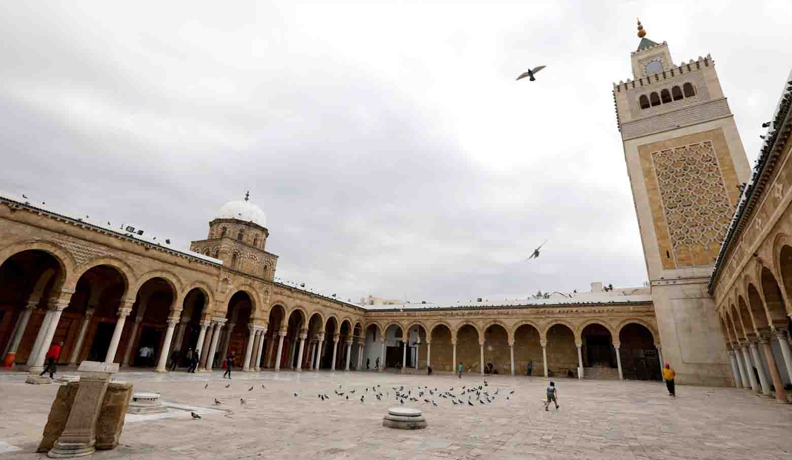 The courtyard of Al-Zaytouna mosque in Tunis. (Reuters)