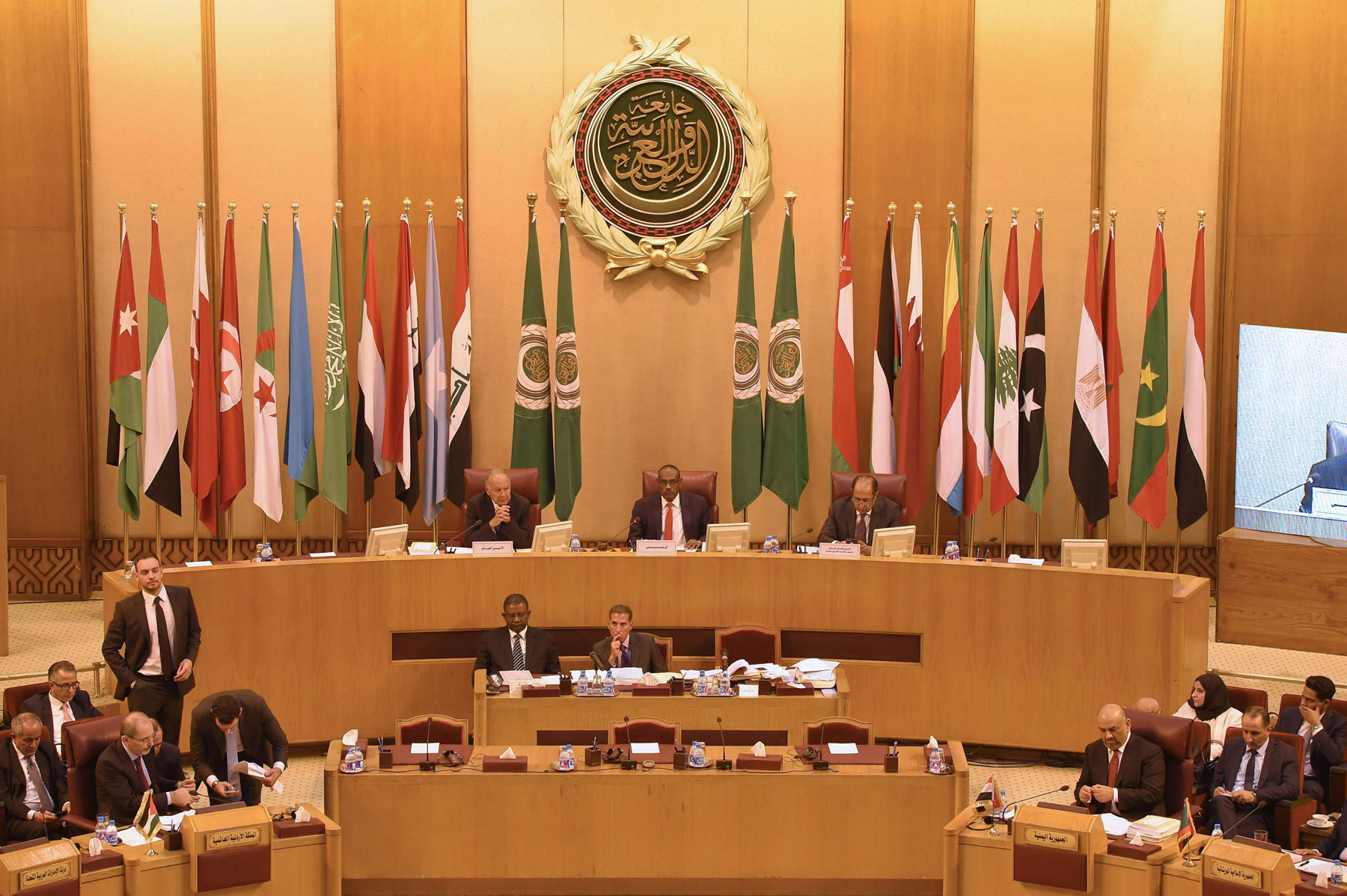 A 2018 file picture of an Arab League meeting of foreign ministers in Cairo. (AFP)