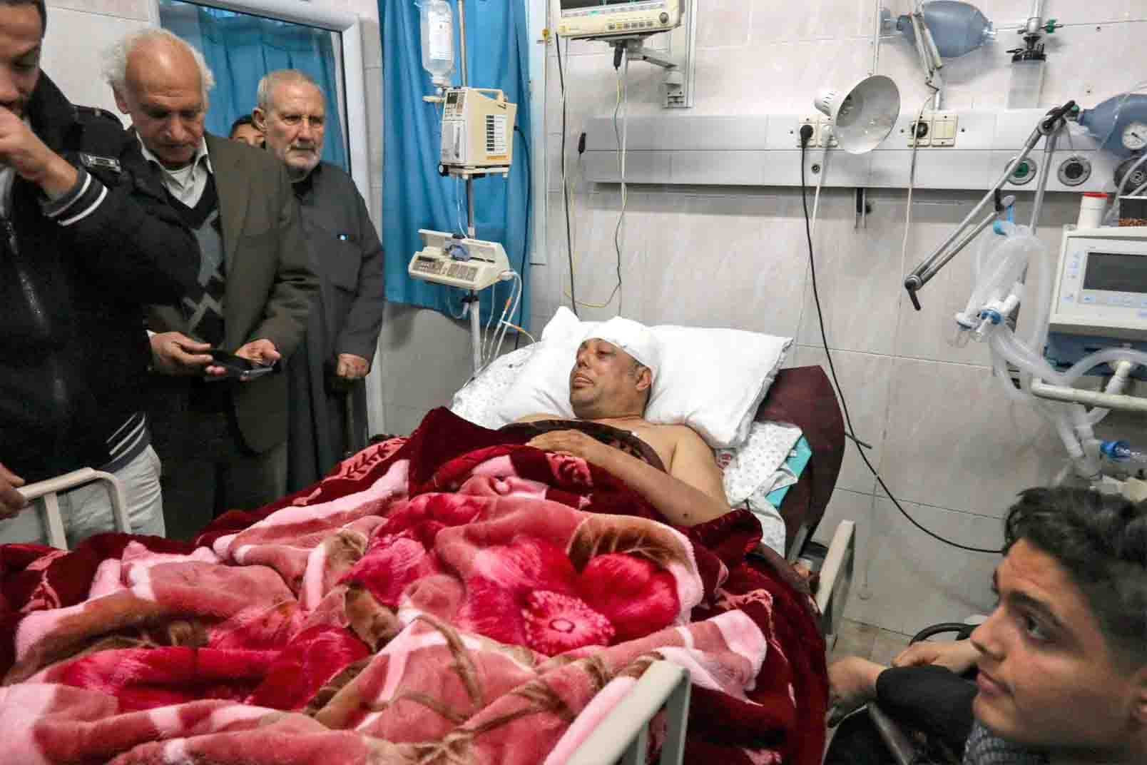Out of control. Atef Abu Seif, spokesman for Fatah in Gaza, lies in a hospital bed after being badly beaten up in the Gaza Strip, March 19. (AFP)