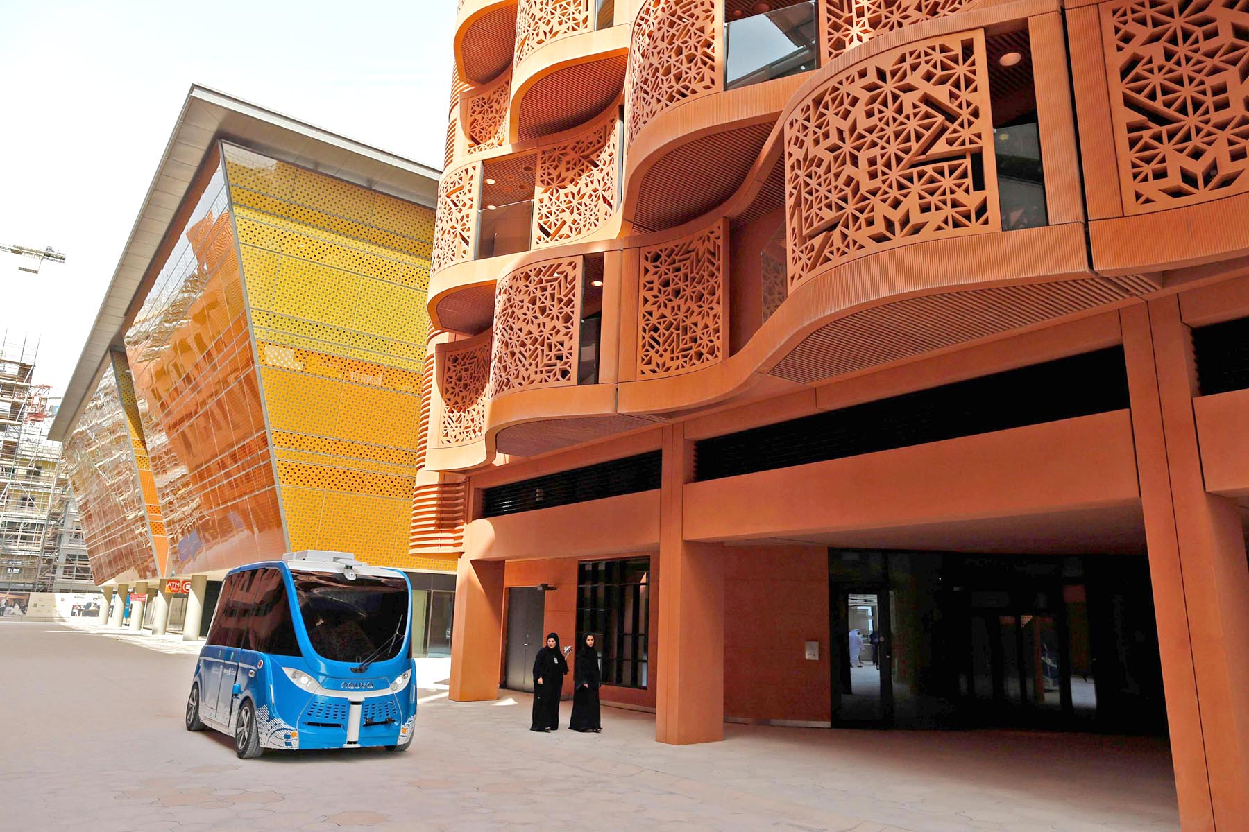 A driverless vehicle at Masdar City, on the eastern outskirts of Abu Dhabi. (AFP)