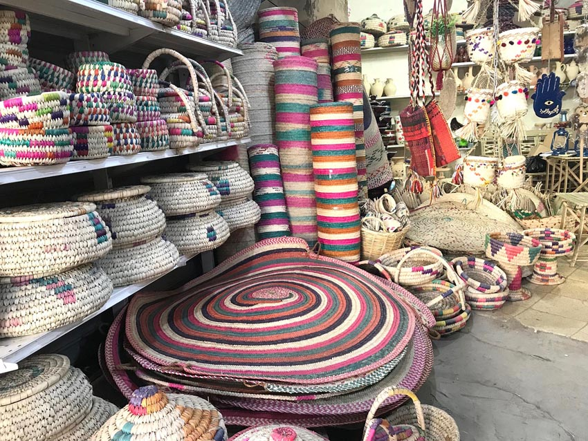 Wicker products on display in central Baghdad. (Oumayma Omar)