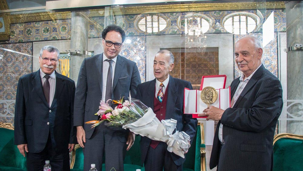 High hopes. Tunisian Cultural Affairs Minister Mohamed Zine El Abidine (2nd L) attends the inauguration of the Tunis College of Philosophy in Ksar Said Palace in the Tunis suburb of Le Bardo.  (Tunis College of Philosophy)
