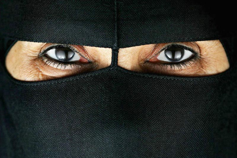 Power of the eyes.  An untitled photograph by Faisal Almalki.  (Al Arab)