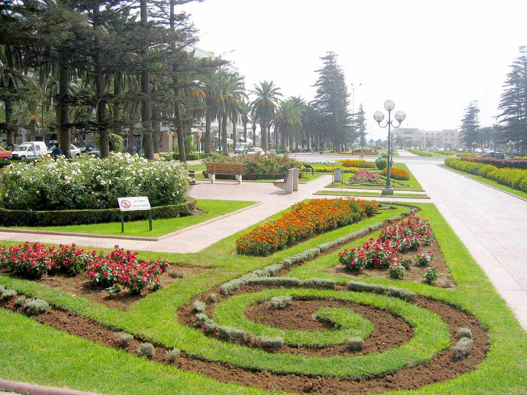 A partial view of  the Twin Towns Park in Mohammedia.  (wikimedia)