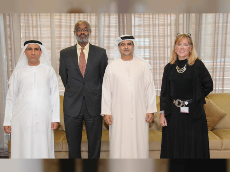 Judge Oran Whiting and Judge Colene Marie Otol with Abu Dhabi Judicial Department officials. (Abu Dhabi Judicial Department)