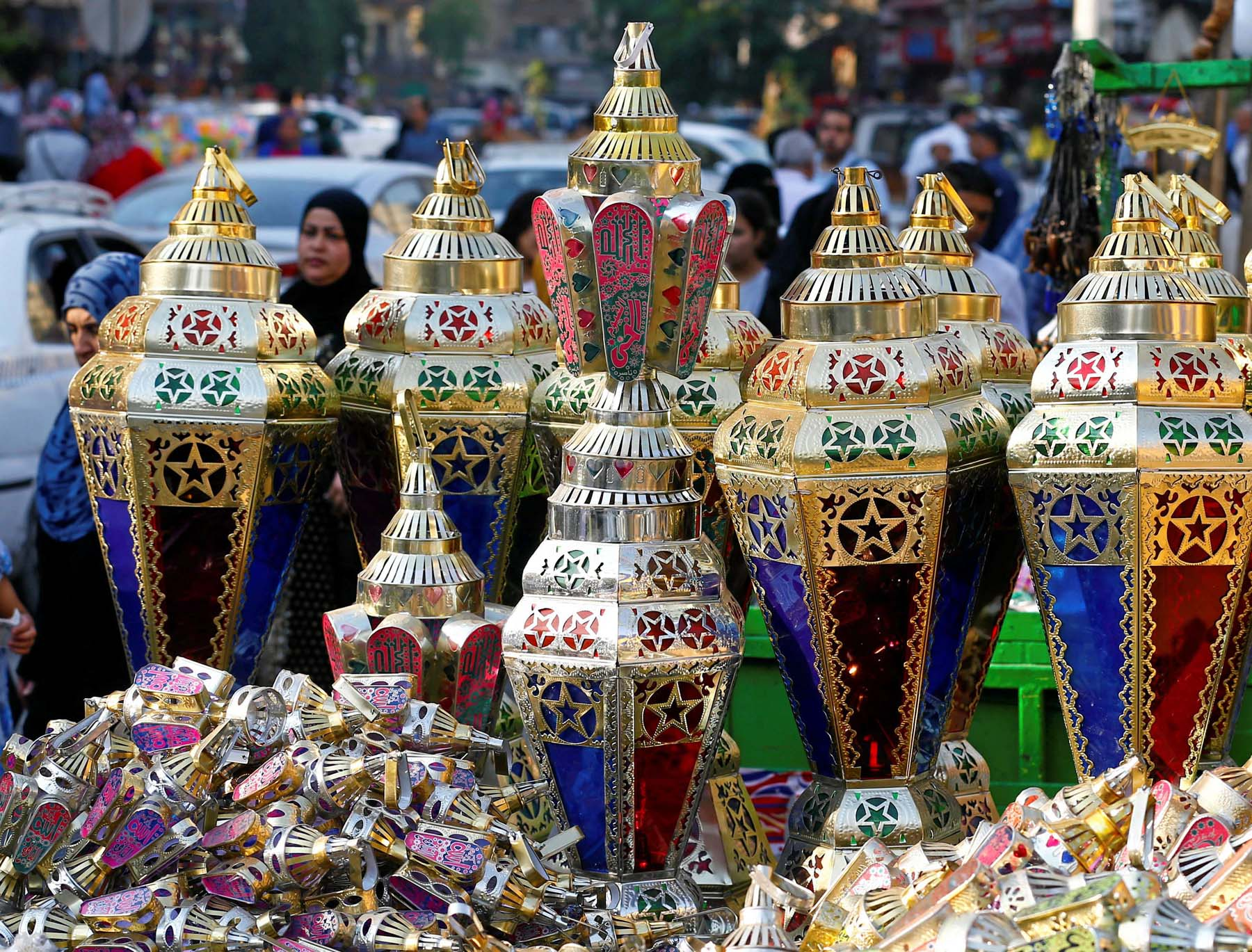 Festive season. Traditional lanterns on diplay ahead of the Muslim holy month of Ramadan in Cairo. (Reuters)