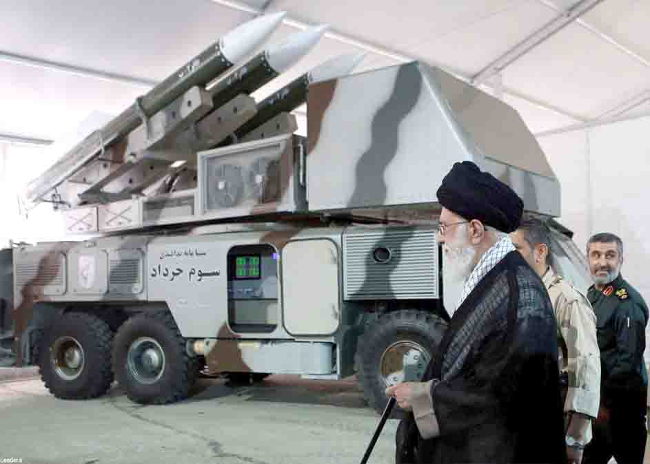 Dangerous cycle. Iranian Supreme Leader Ayatollah Ali Khamenei is seen near a 3 Khordad system, which is said to have been used to shoot down a US military drone. (Reuters)