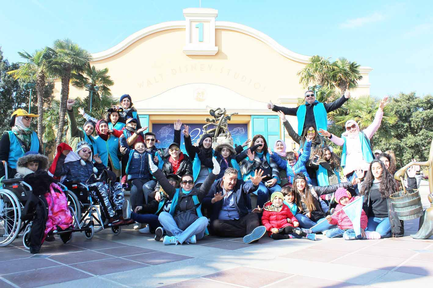 Extraordinary experience. Children and their parents visit Disneyland Paris with the help of Tamanna. (Courtesy of Tamanna)