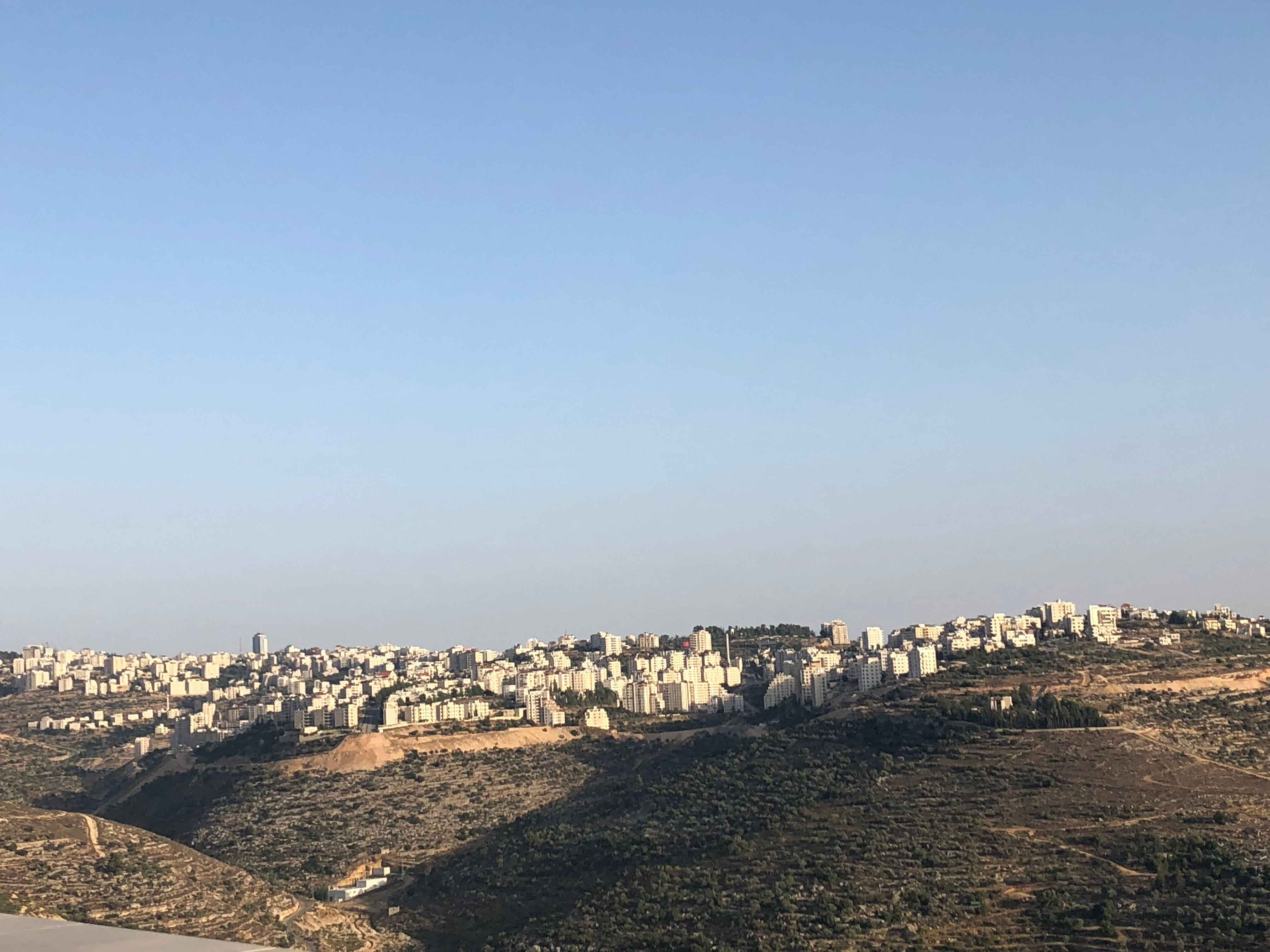 A view of Ramallah city in the West Bank. (Ruba Zeidan)