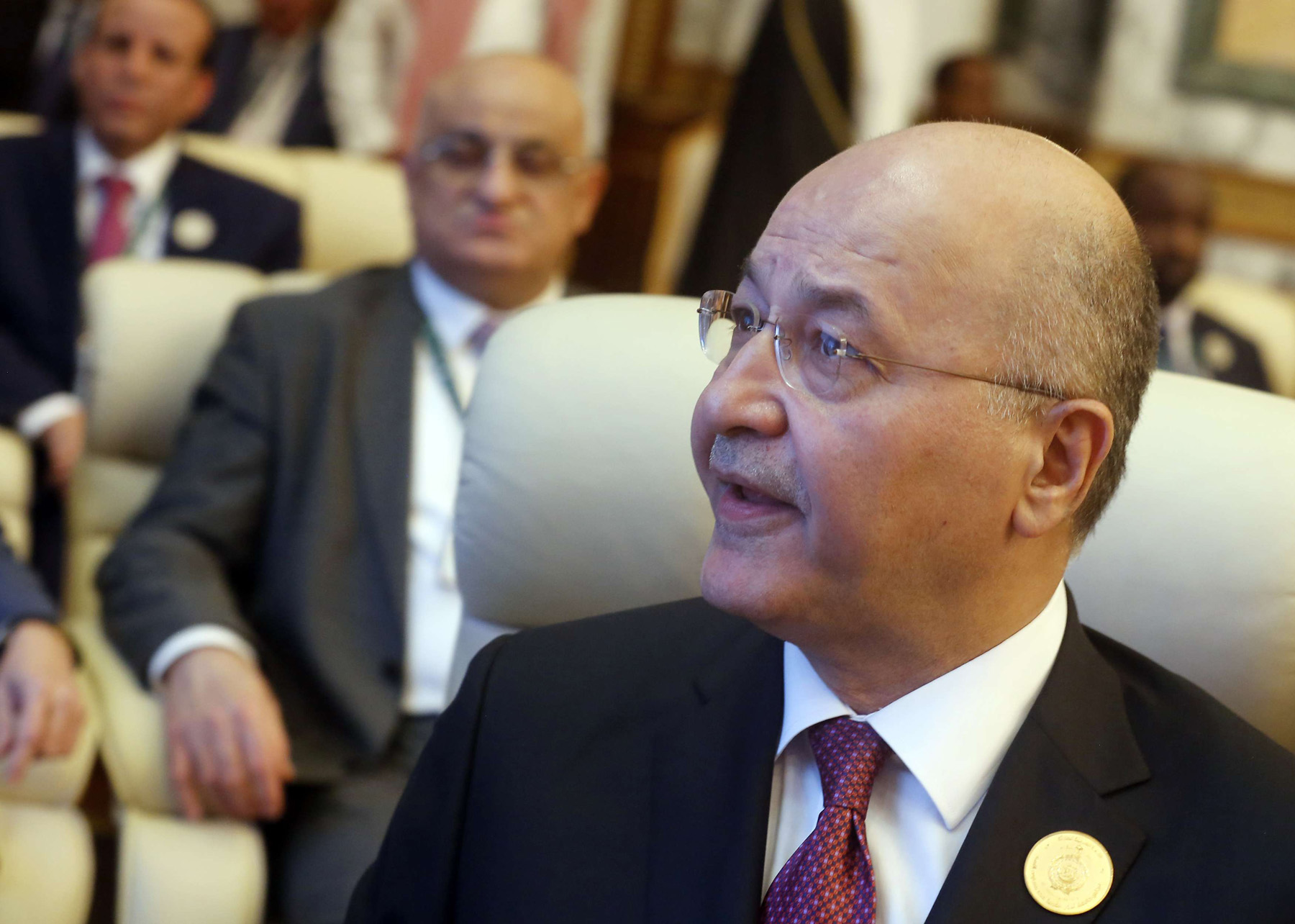 Singing a different tune. Iraq's President Barham Salih attends an emergency summit of Gulf Arab leaders in Mecca, May 30. (AP)