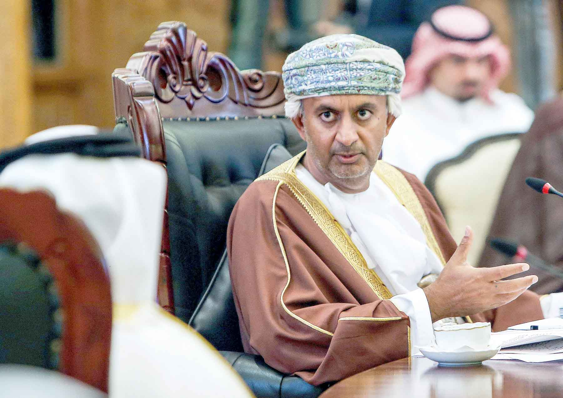 Slow reform. A 2018 file picture shows Omani Minister of Commerce and Industry Ali bin Masoud al-Sunaidi (C) speaking during the Gulf Cooperation Council's Commerce and Economic Cooperation Committee meeting in Kuwait City. (AFP)