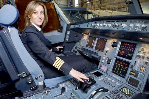 Captain Rola Hoteit, the first Lebanese female pilot with Lebanon national airline MEA. (Courtesy of Rola Hoteit)