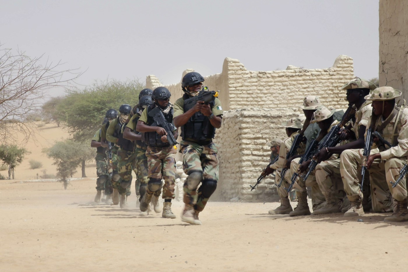 Nigerian special forces and Chadian troops participate with US advisors in the Flintlock exercise in Mao, Chad. (AP)