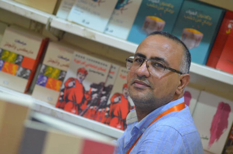 A passion for books. Owner of Dar Shahriar Publishing House and Bookshop in Basra Safa Diab. (Al Arab)