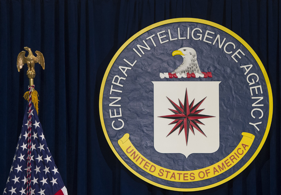 The logo of the Central Intelligence Agency is seen at CIA Headquarters in Langley, Virginia. (AFP)