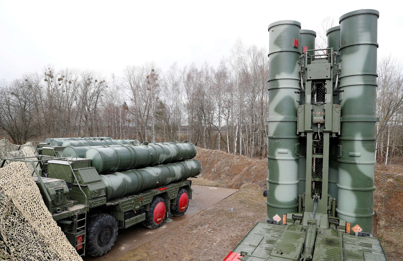 "A view shows a new S-400 ""Triumph"" surface-to-air missile system after its deployment at a military base outside the town of Gvardeysk near Kaliningrad, Russia March 11, 2019. (Reuters)"