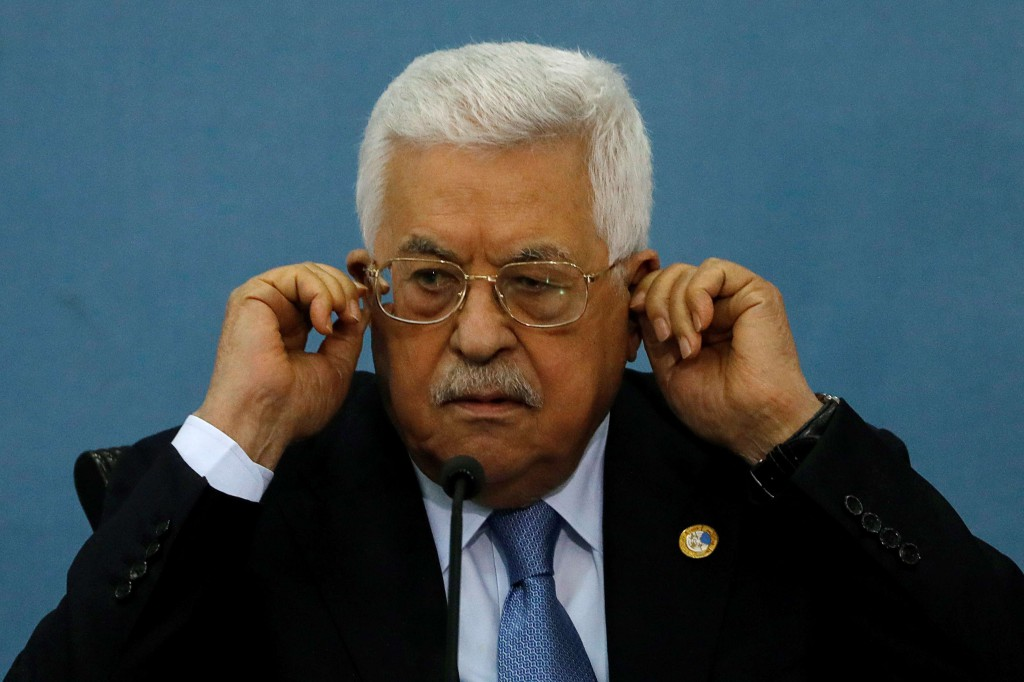 Palestinian President Mahmoud Abbas looks on as he meets with the foreign media in Ramallah, in the Israel-occupied West Bank June 23. (Reuters)