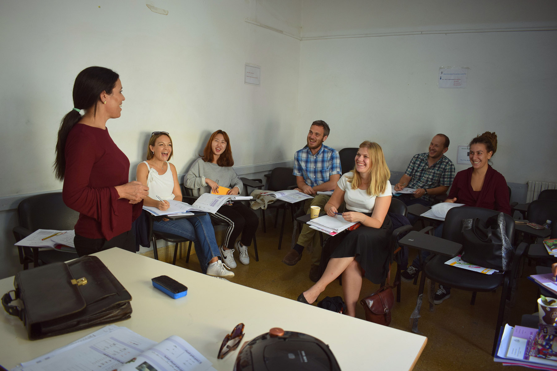 Foreign students attend class at the Bourguiba Institute of Modern Languages in Tunis, Tunisia. (Khaoula ben Amara)