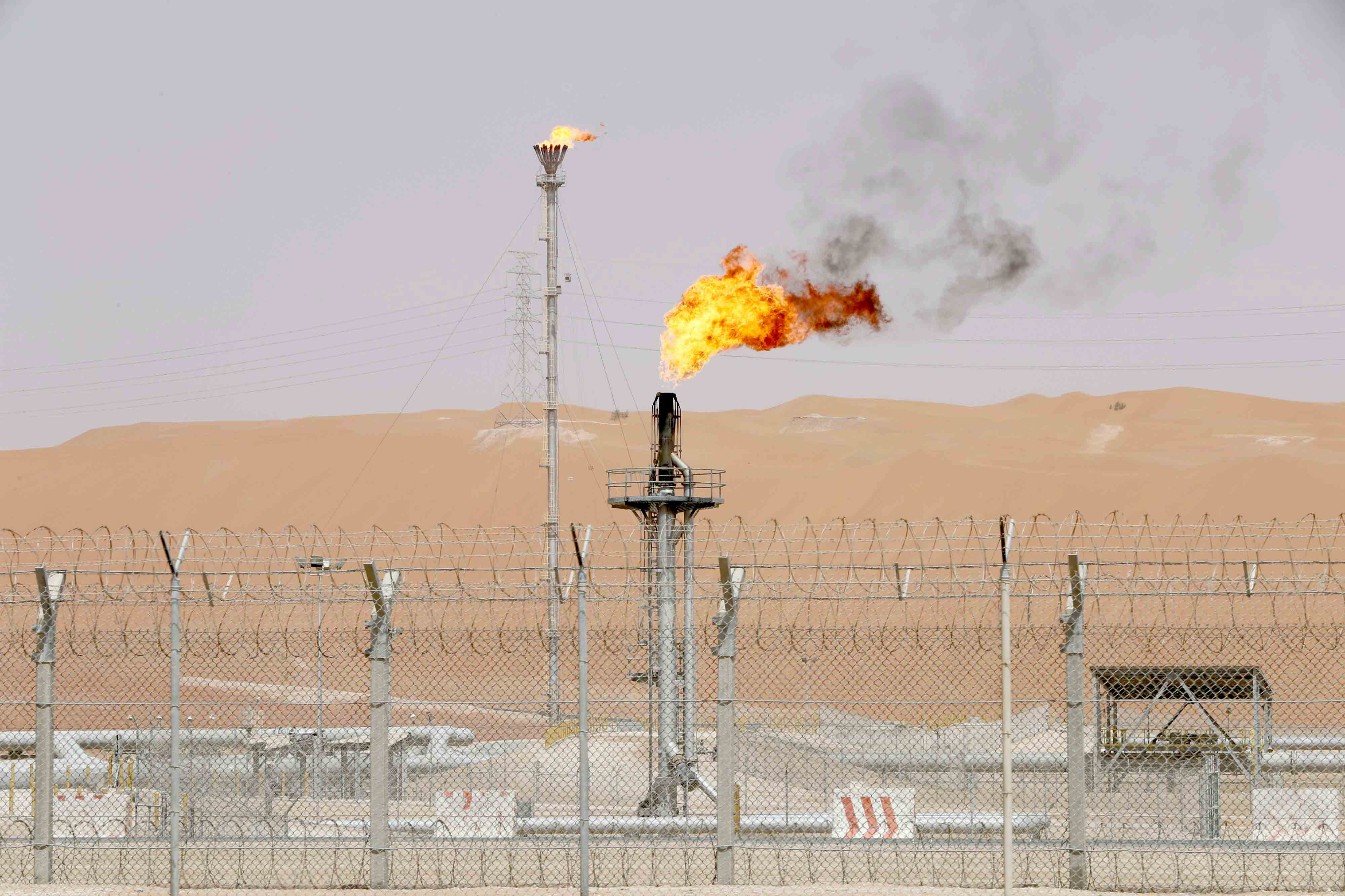 The production facility of Saudi Aramco's Shaybah oilfield in the Empty Quarter. (Reuters)
