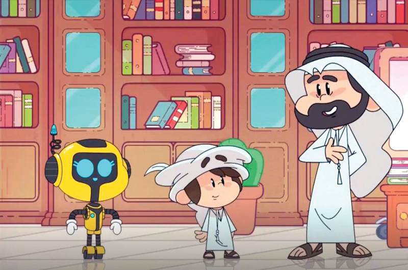 "A grab shows a scene from the Emirati animated series ""Fateen."" (Al Arab)"