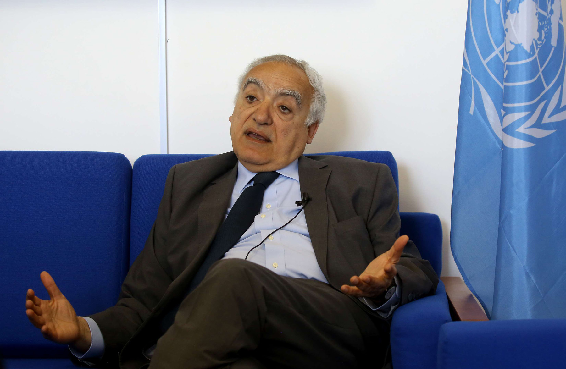 Low hopes. Ghassan Salame, UN special envoy for Libya, speaks during an interview at his office in Tripoli. (AFP)