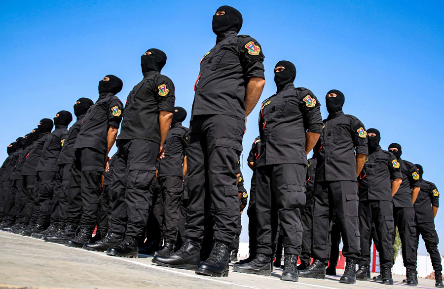 On firm ground. Members of Iraq's Counterterrorism Service line up during a graduation ceremony in Baghdad, last August.  (AFP)