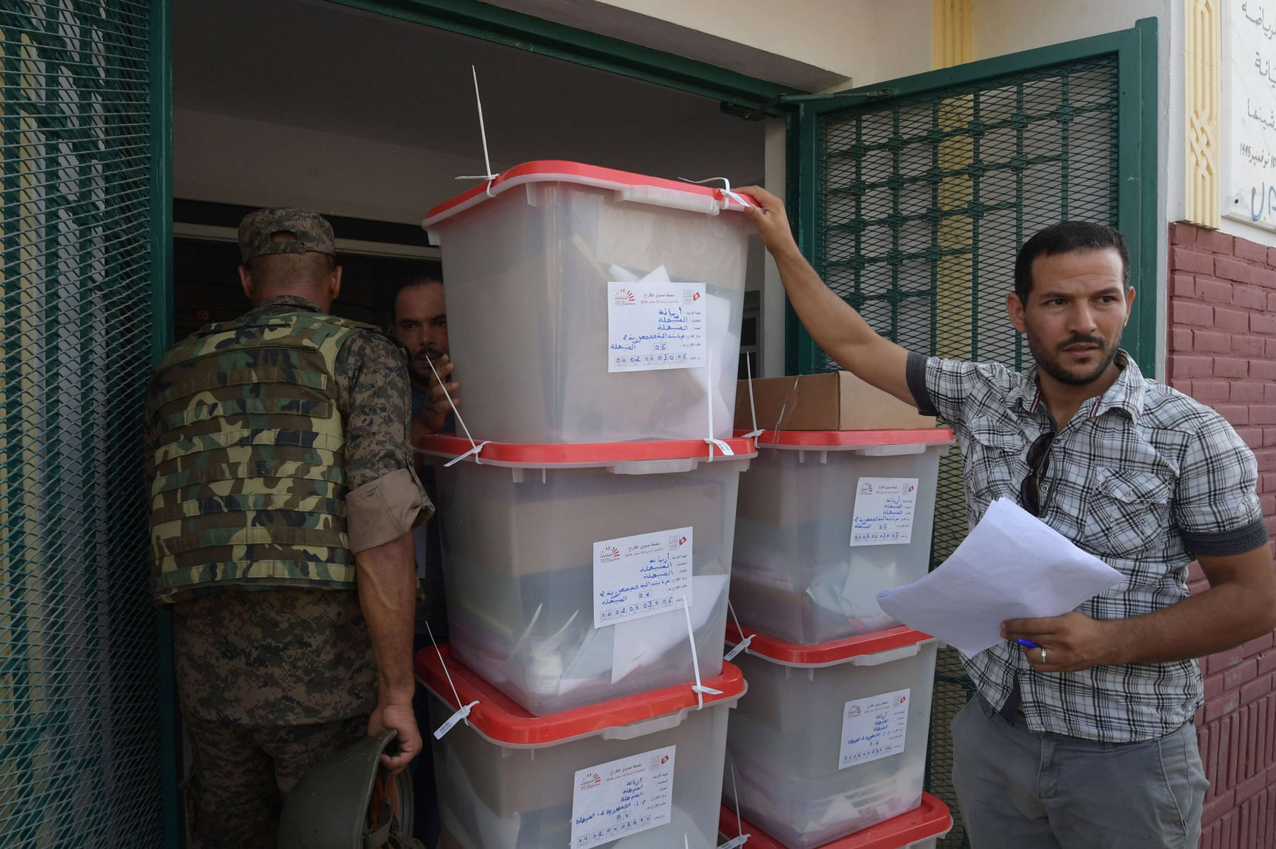 Countdown to D-day. Workers of Tunisia's Independent High Authority for Elections dispatch ballot boxes to polling stations in Tunis, September 14. (AFP)