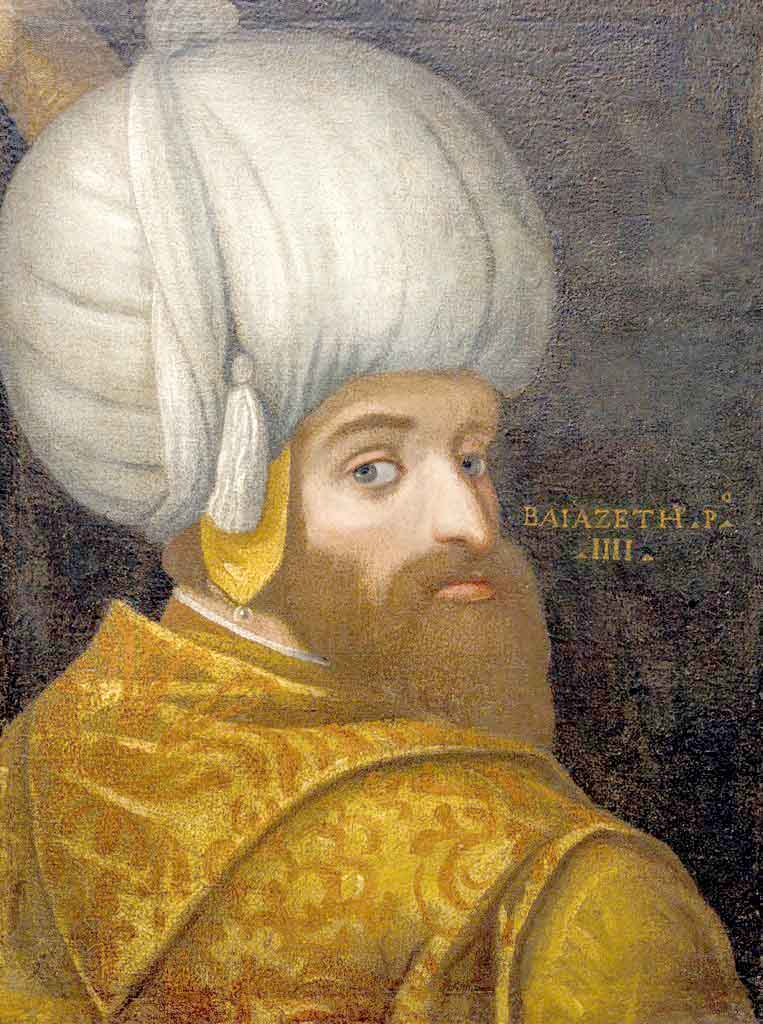An interest in the Islamic world. A portrait of Sultan Bayezid I, oil on canvas, 1580.(Islamic Arts Museum Malaysia)