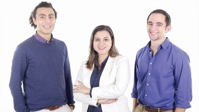 With a focus on accuracy. Harmonica's co-founders Sameh Saleh (L), Shaymaa Ali (C) and Aly Khaled Metwally. (Courtesy Harmonica)