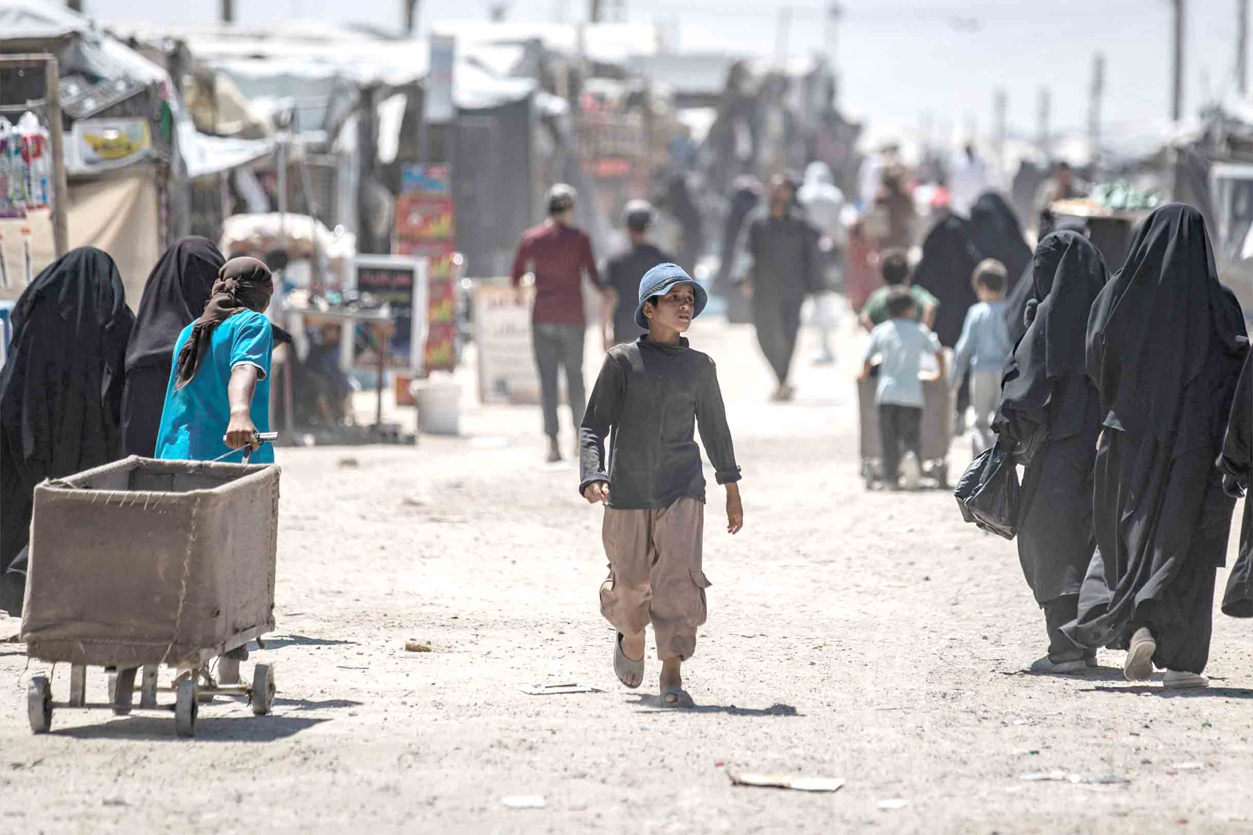 Renewed fears. A Syrian boy walks in al-Hol camp for the internally displaced people in Hasakah governorate in  north-eastern Syria. (AFP)