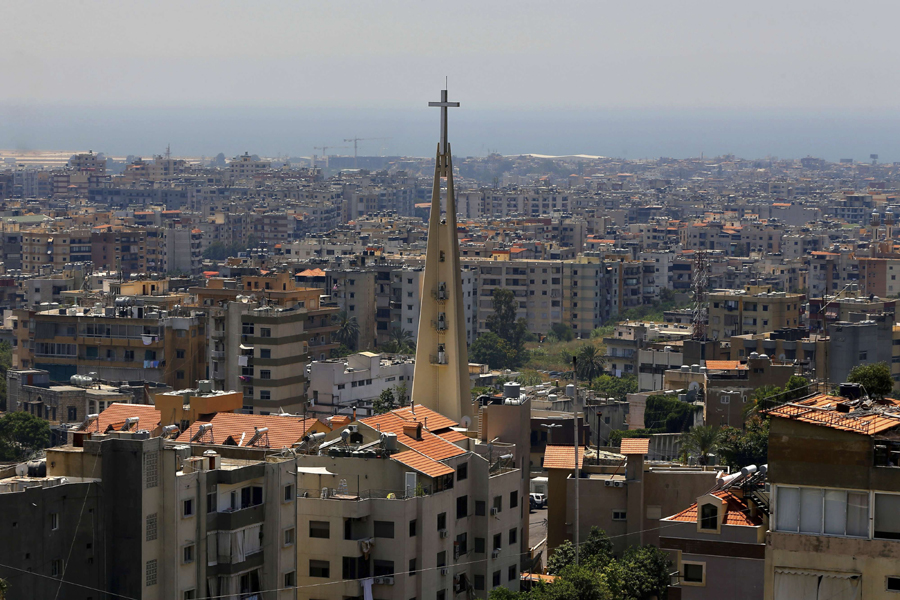 A church in the Lebanese village of Hadat, where only Christians can rent or buy property, near Beirut, June 24. (AP)
