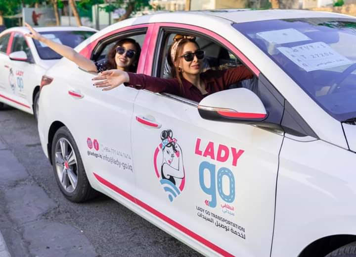 "Fewer risks. A ""Lady Go"" taxi drives in Baghdad.(Oumayma Omar)"