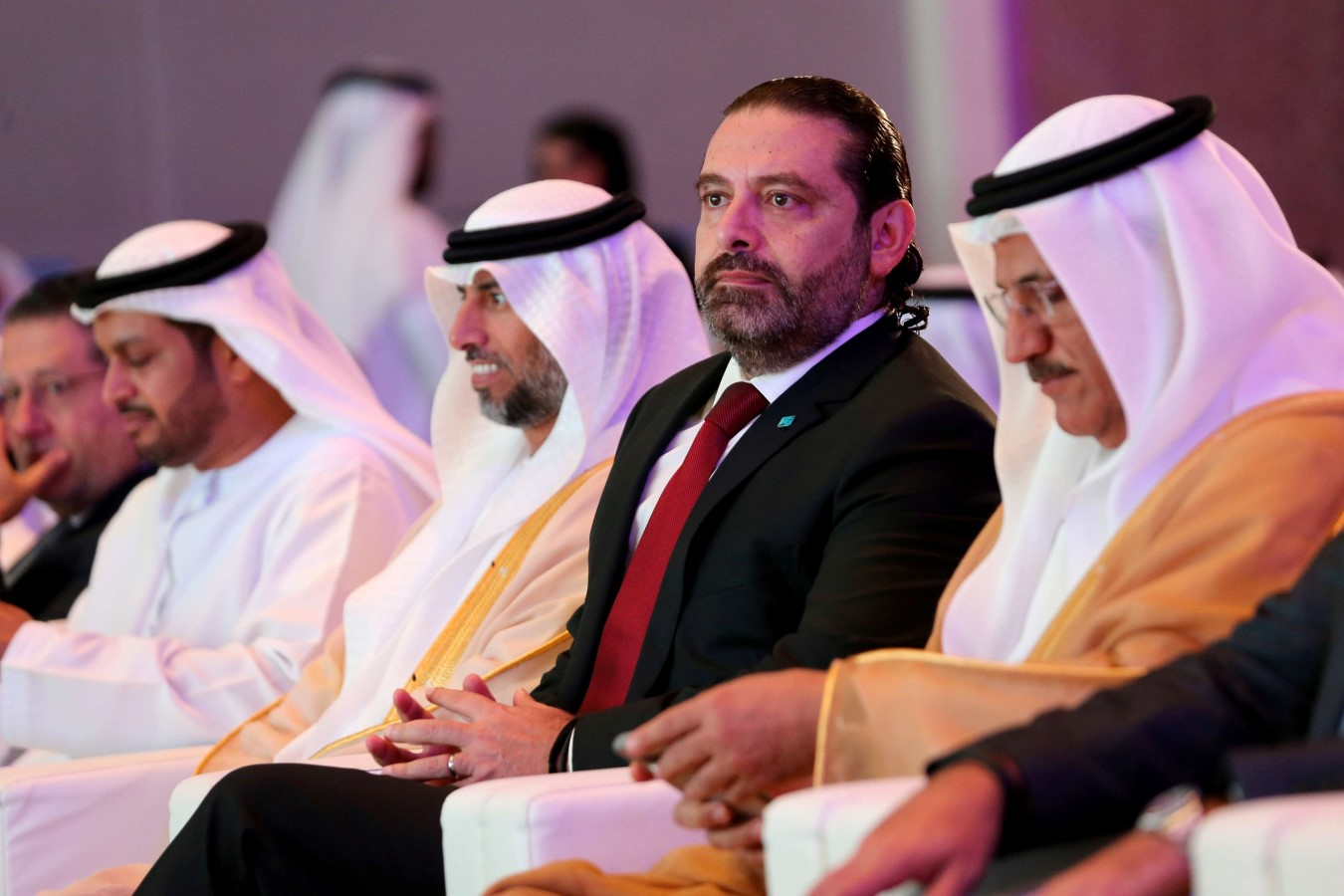 Lebanese Prime Minister Saad Hariri attends the UAE-Lebanon Investment Forum in Abu Dhabi, UAE, October 7. (Reuters)