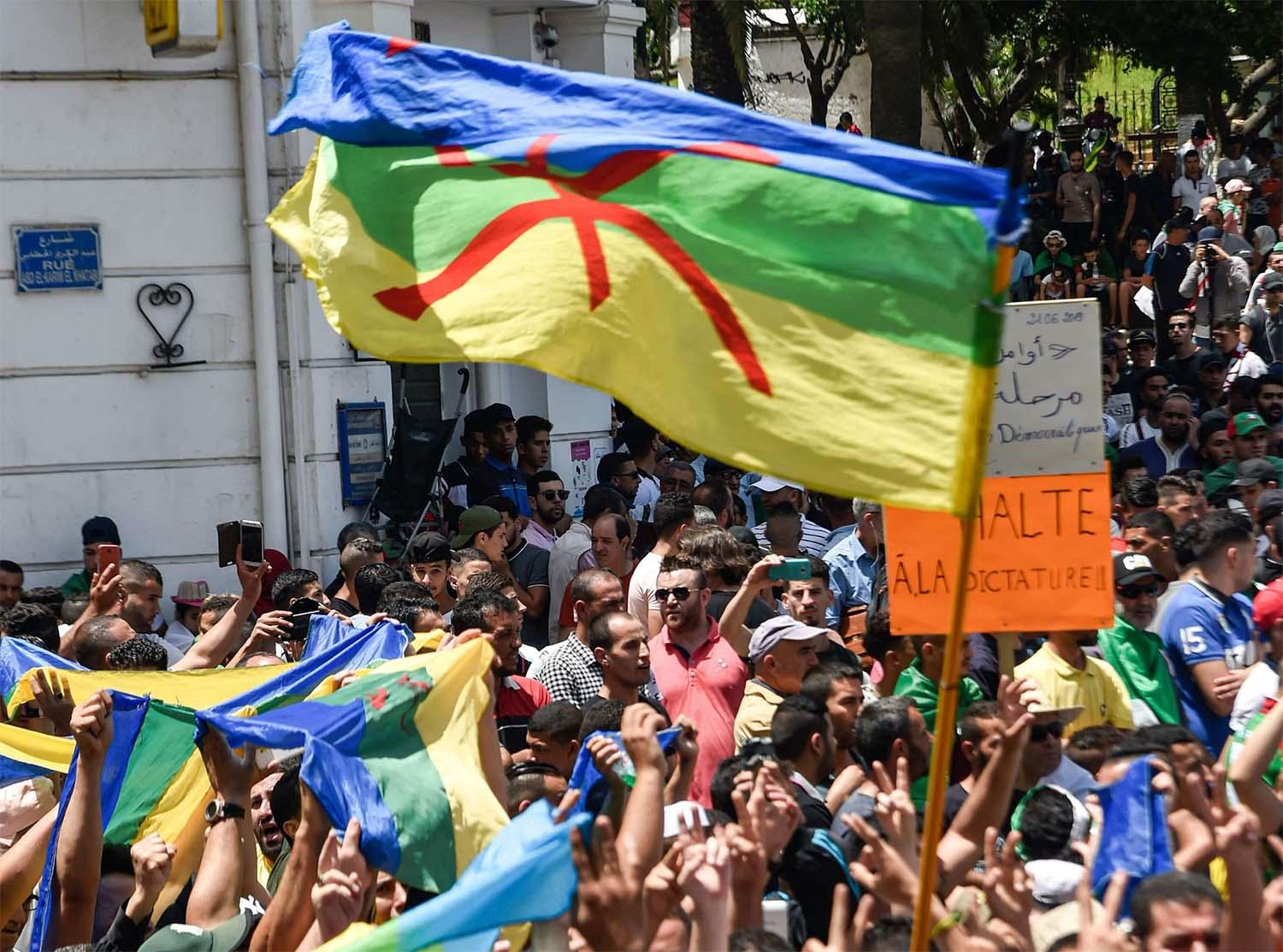 The protesters were arrested June 21 in Algiers in possession of Amazigh flags while taking part in an anti-government protest