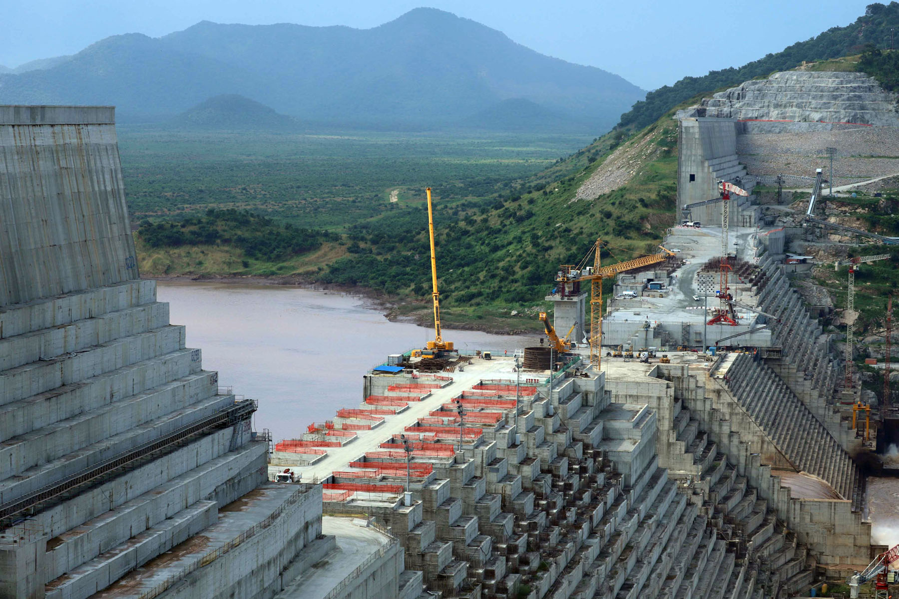 Ethiopia's Grand Renaissance Dam under construction in Guba Woreda, Benishangul Gumuz Region, Ethiopia, September 26. (Reuters)