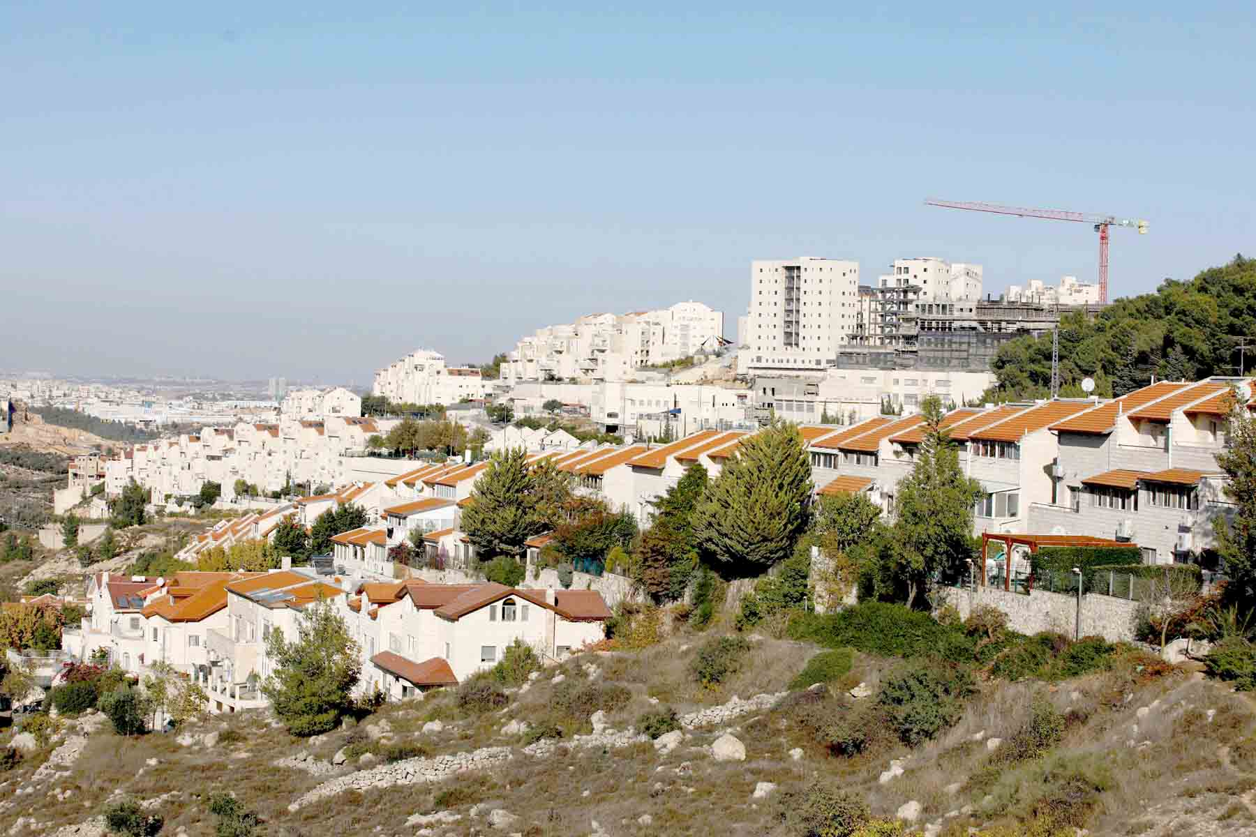 A general view of the Israeli settlement of Efrat near the Palestinian city of Bethlehem south of Jerusalem in the occupied West Bank, November 19.(AFP)