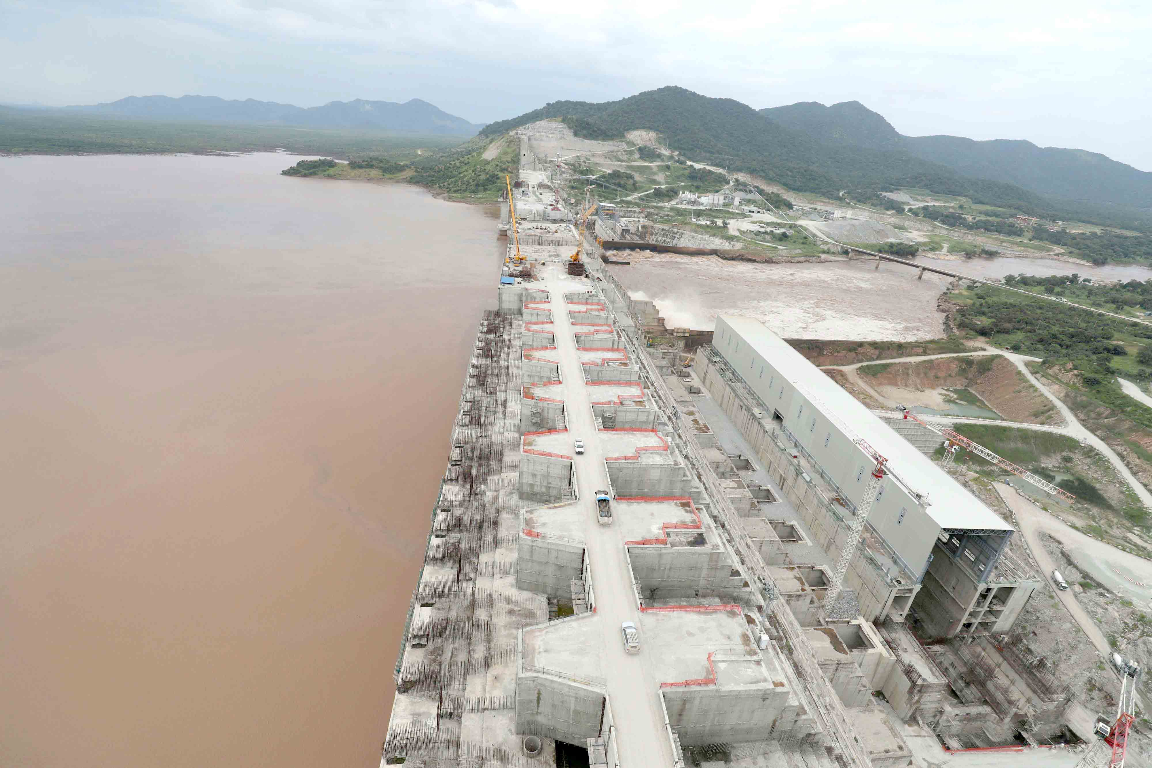 The construction site of the Grand Ethiopian Renaissance Dam in Guba Woreda, Benishangul-Gumuz Region, Ethiopia. (Reuters)