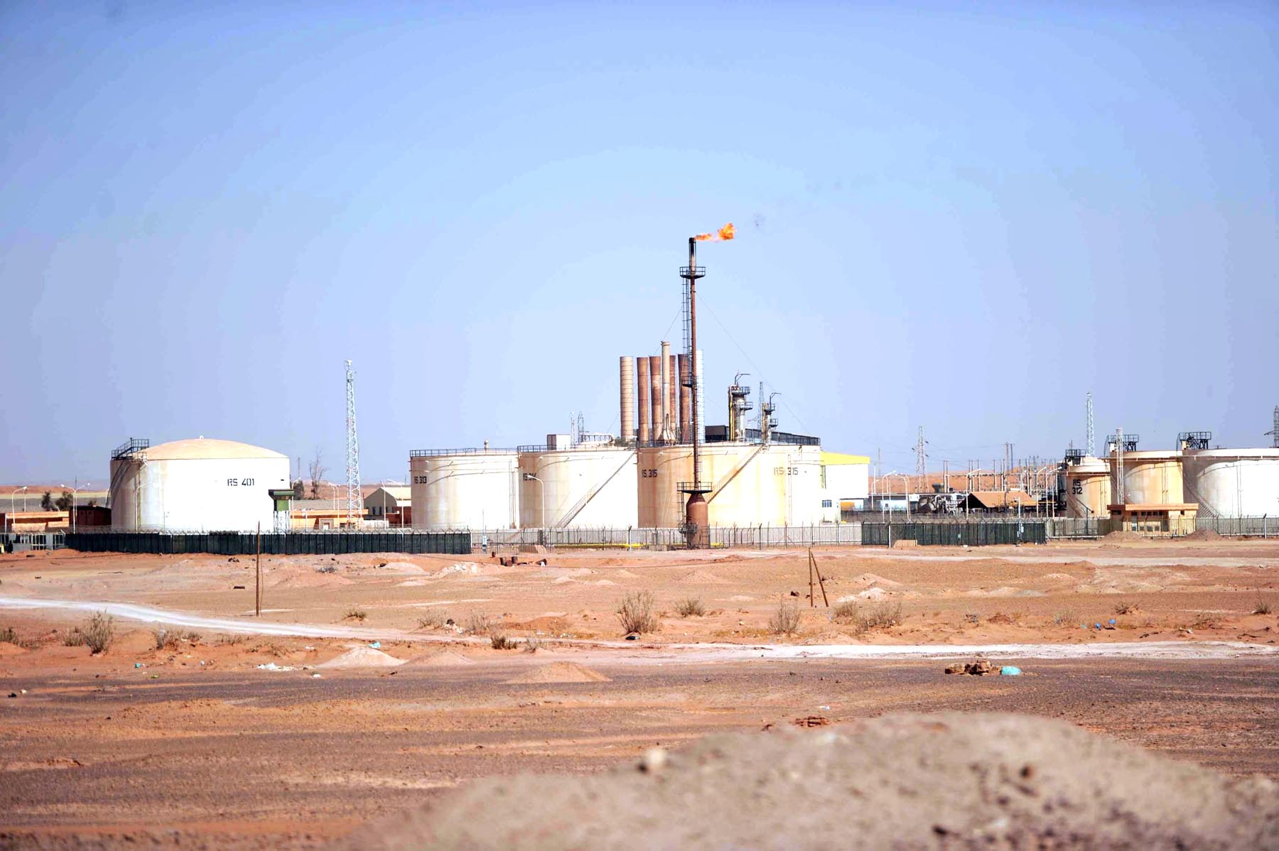 A general view of an Algerian oil installation on the outskirts of In Amenas. (AFP)