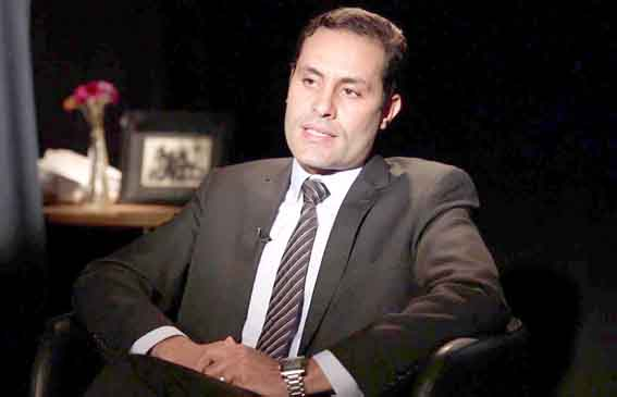 Egyptian MP Ahmed Tantawi speaks during an interview with BCC Arabic.  (BBC Arabic)