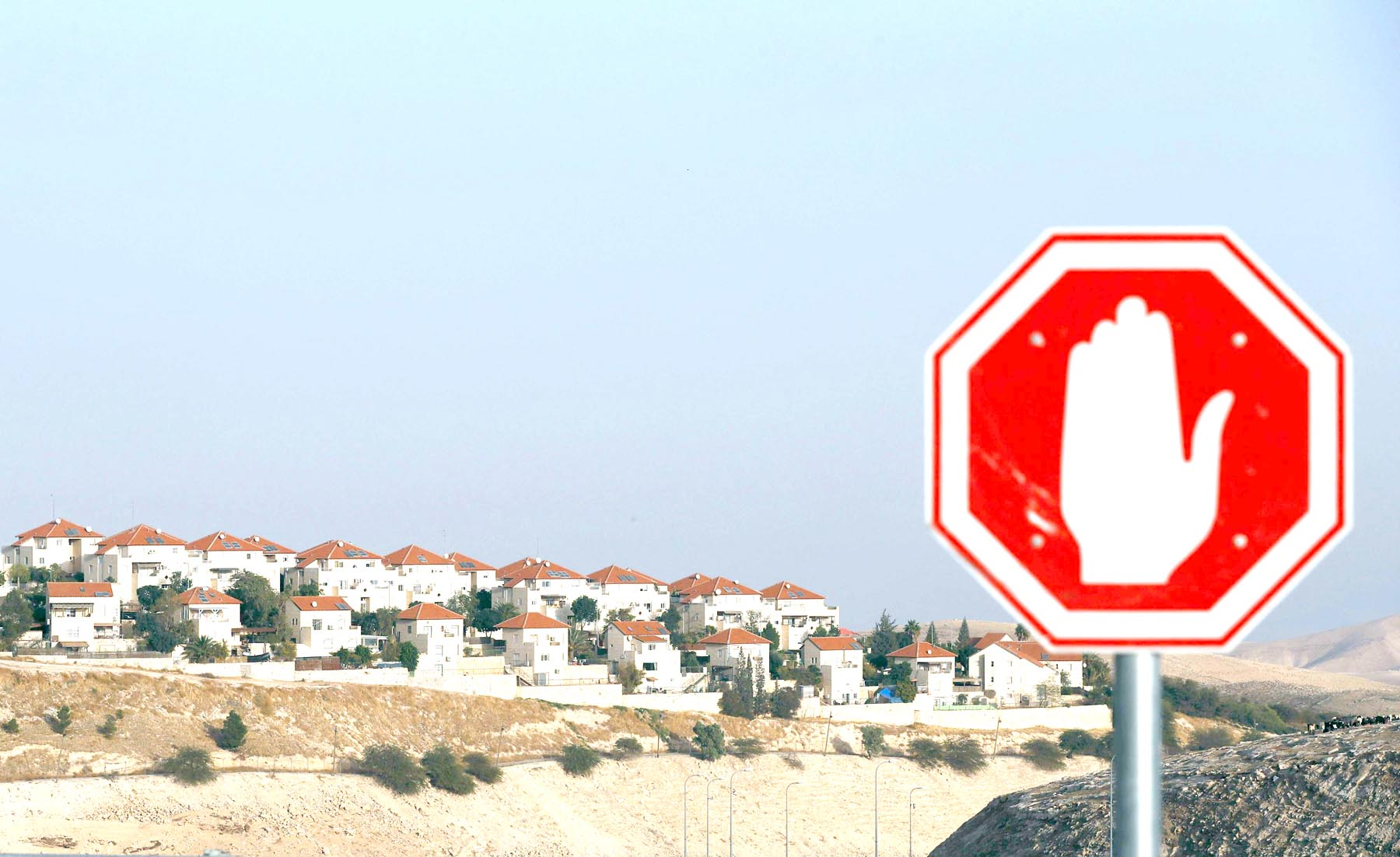 Dead end. The Israeli settlement of Maale Adumim in the occupied West Bank on the outskirts  of Jerusalem. 										                      (AFP)