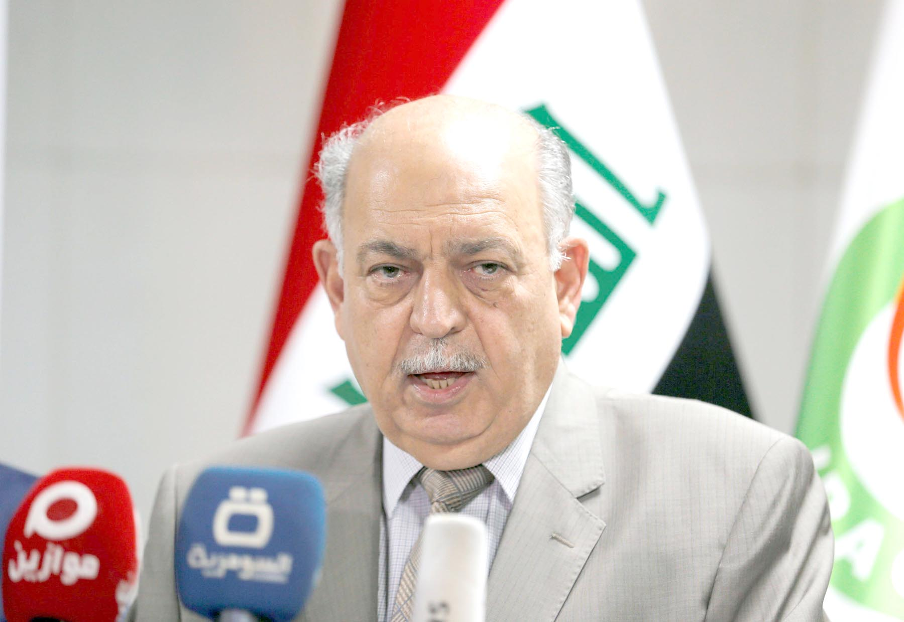 Oil as usual. Iraqi Oil Minister Thamer Ghadhban speaks at a news conference in Baghdad, Iraq. 	                                                      (Reuters)