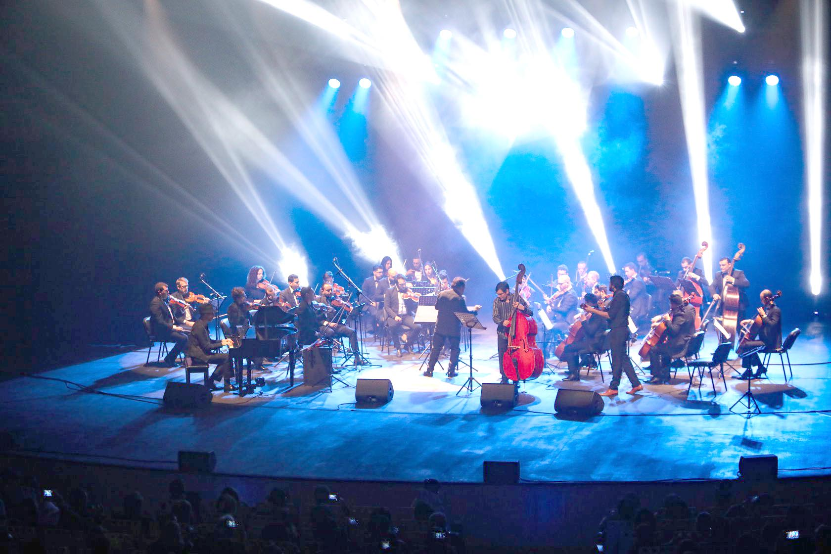 Members of the Tunisian Symphonic Orchestra perform at the Opera Theatre in Tunis. 		  (Tunisian Ministry of Culture)