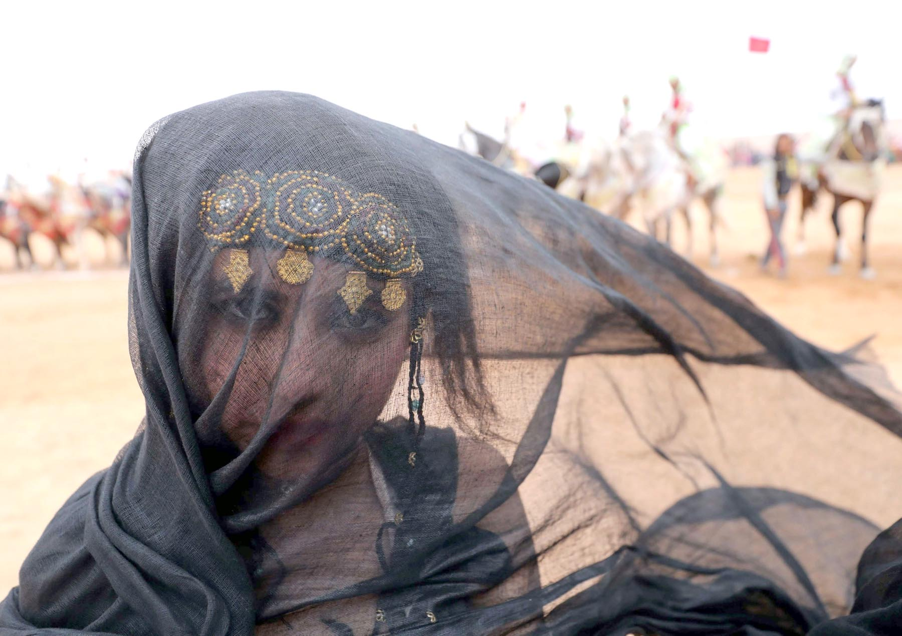 A Moroccan girl attends a Berber festival in the western desert town of Tan-Tan.    (AFP)