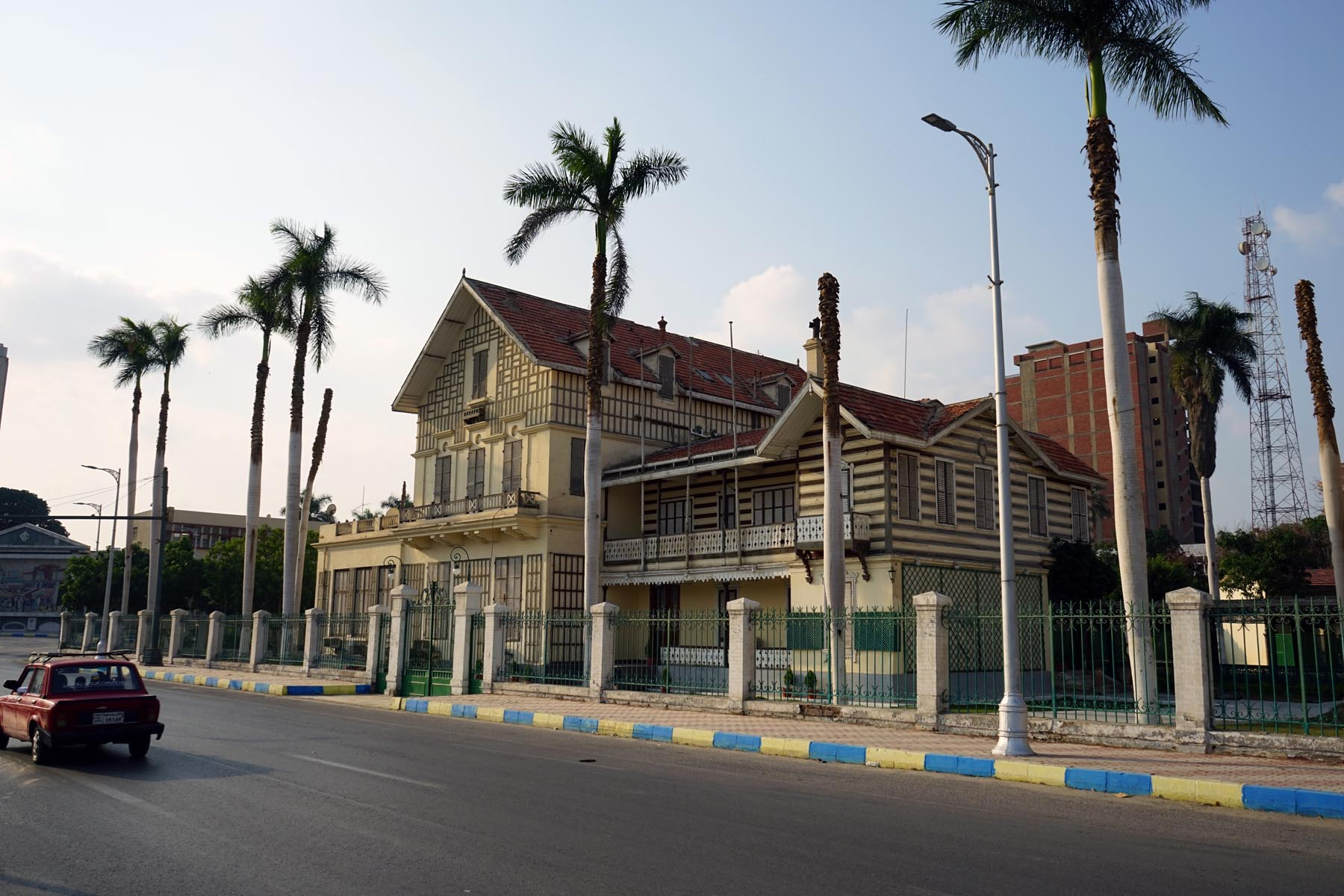 The house of the French developer of the Suez Canal Ferdinand de Lesseps in Ismailia. (Marc Espanol)