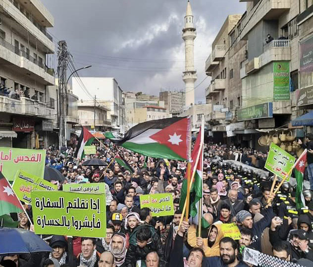 Jordanians protest against the Deal of the Century in Amman. (Roufan Nahhas)