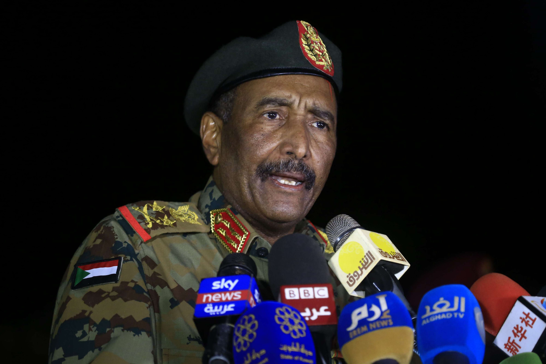 President of the Sudanese Transitional Council, General Abdel Fattah al-Burhan. (AFP)