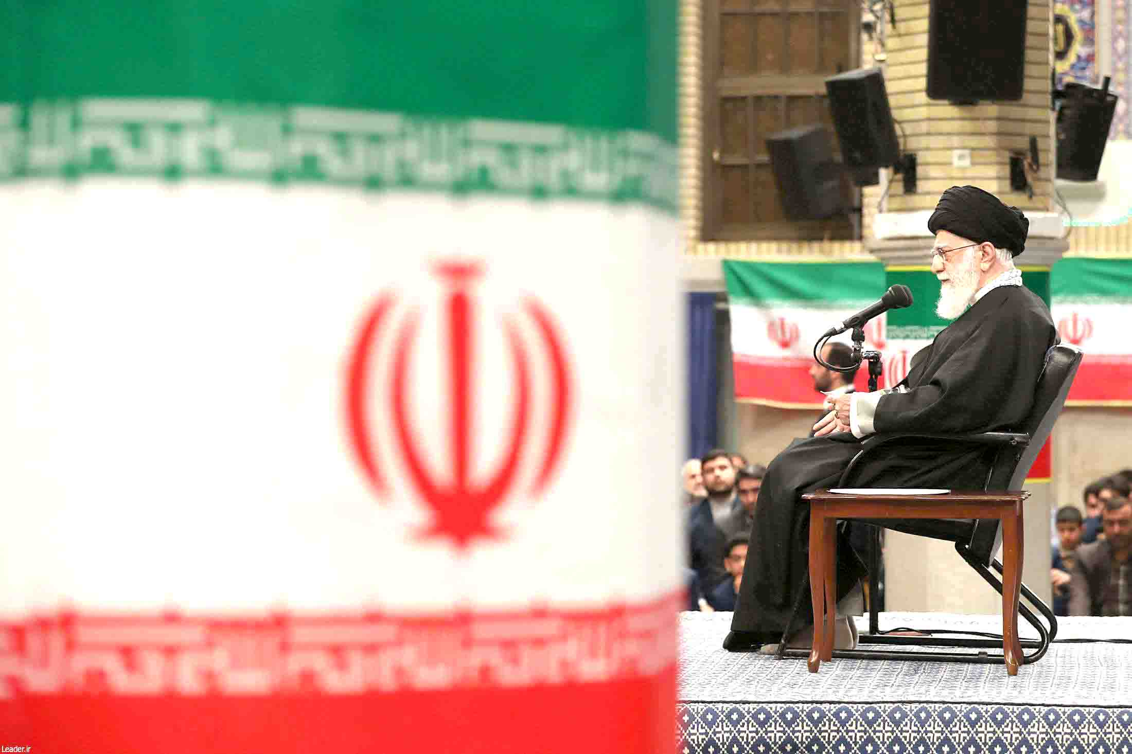 Iranian Supreme Leader Ayatollah Ali Khamenei speaks at a celebration of the 41st anniversary of the 1979 Islamic Revolution.(DPA)
