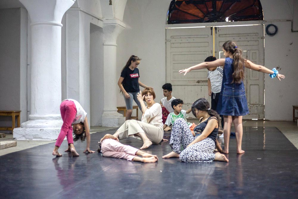 A scene from the theatre workshop for children at the headquarters of L'Art Rue. (L'Art Rue)