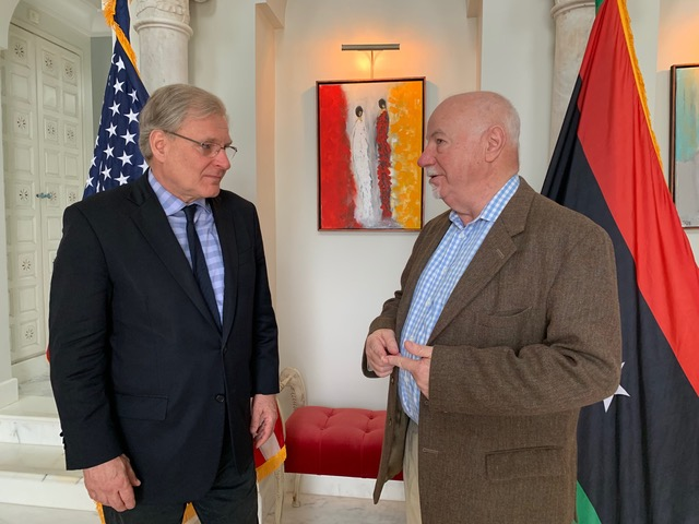 Richard Norland, US ambassador to Libya, talks to The Arab Weekly contributor Michel Cousins. (US Embassy to Libya)
