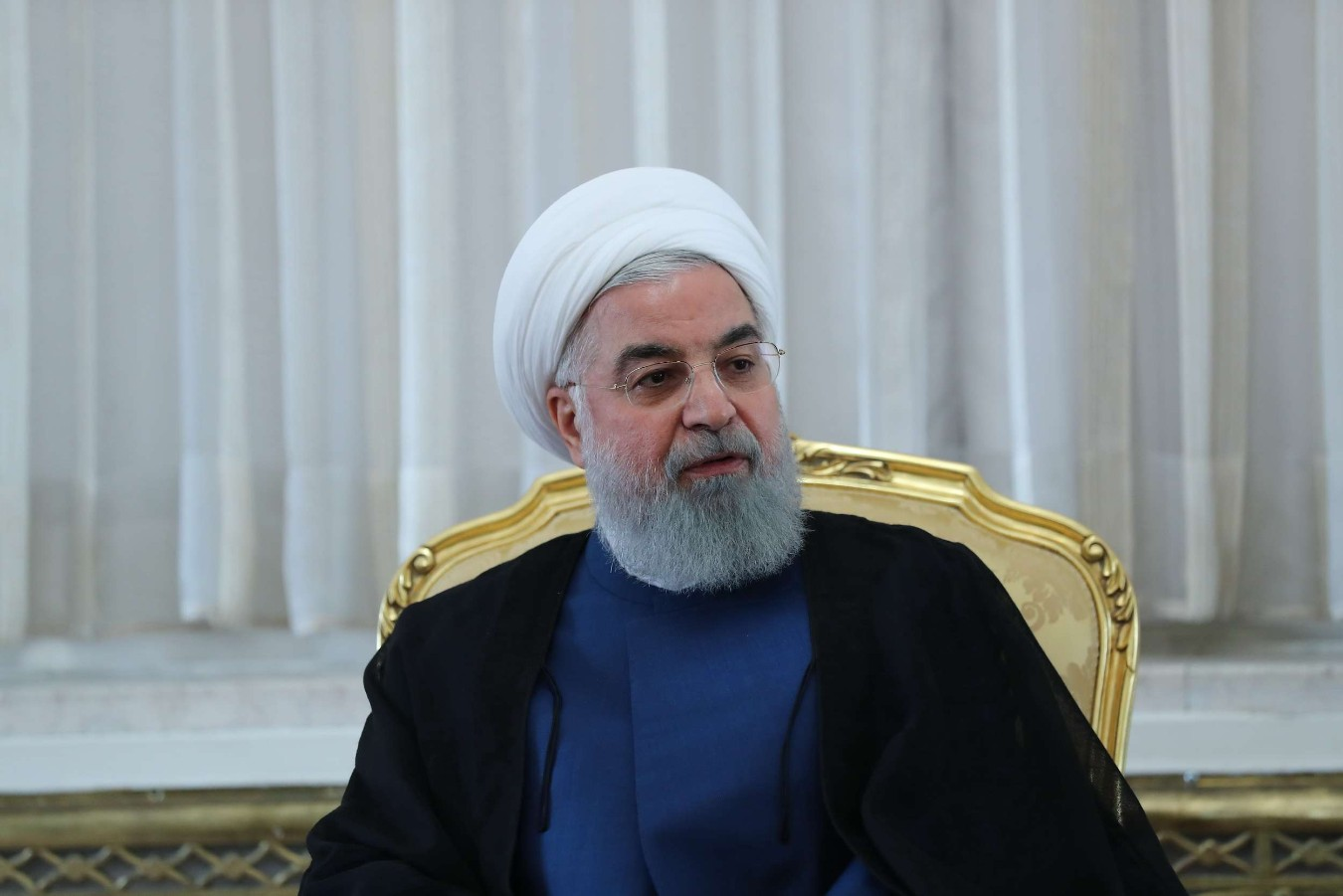 A handout picture provided by the Iranian presidency shows the Iranian president Hassan Rohani. (AFP)